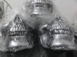 Máscara Caveira Meia Face