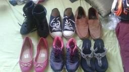 6 pares de sapatos todos bem conservados!!