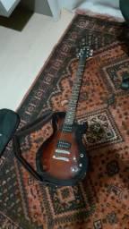 Guitarra Les Paul Ibanez e amplificador