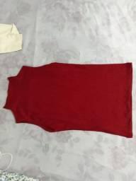 Blusinha gola alta vermelha