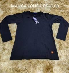 Camisa manga longa rasgadinha