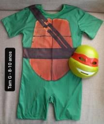 Tartaruga ninja 8-10 anos fantasia