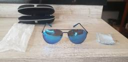 Óculos Aviador Azul Novo