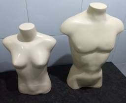 Manequim busto masculino e feminino
