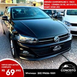 VW Virtus Comfortline 2019 TSI Automático c/ Pack Tech2 - Único Dono