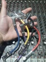 Conjunto 5 cabos pedalboars Joyo