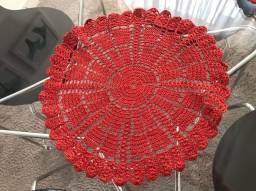 Jogo americano em crochê, 5 peças.