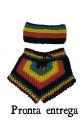 Conjunto REGGAE em crochê,moda praia 2021