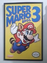 Título do anúncio: Quadro Super Mario Bros. 3 (Grande)