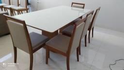 Título do anúncio: Mesa de madeira e acabamento laka nova completa pronta entrega