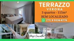 Título do anúncio: Terrazzo Verona- Apartamento em Patamares 3 quartos em 115m² com 2 vagas de garagem- (R1)
