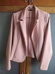 Blazer Feminino G rosa claro