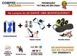 Kit Corda profissional + Elástico extensor + Elástico roda Revoflex + Brinde