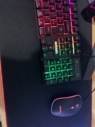 Mouse e teclado semi mecânico novo