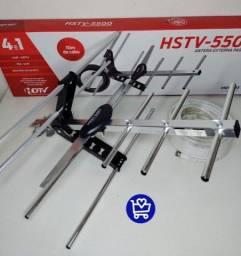 Título do anúncio: Antena Externa para Tv 4em1 (Cabo 10M) - HOT-SAT