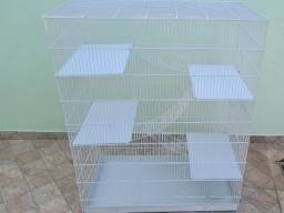 Gaiola para Twister, Chichila, Furão - 4 andares + acessórios