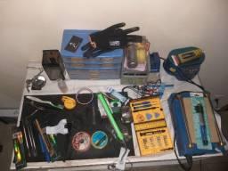 Ferramentas para manutenção de celular,laboratório completo.