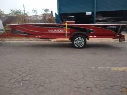 Título do anúncio: Canoa 5 metros Bass plataformada, com carreta e lona