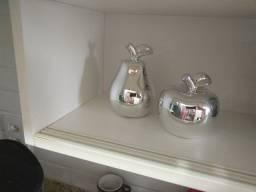 Título do anúncio: Decoração cozinha: pera e maçã metálico