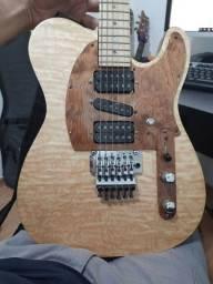 Título do anúncio: Guitarra dd luthier captadores Seymour duncan ferragens goth