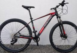 Bicicleta aro 29 SOUTH 12 velocidades MTB XC 880  trava suspensão no guidão
