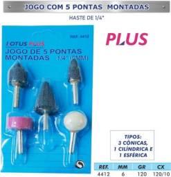 Título do anúncio: Jogo Ponta Montada com 5 Peças 1/4'' 6mm - Lotus 4412