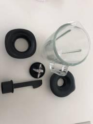 Copo de vidro, tampa, lamina, adaptador e pá liquidificador philips