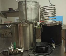 Kit fabricação cerveja artesanal, elétrico, todo em inox, para 20l (Criciúma-SC)