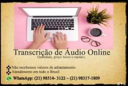 Título do anúncio: Transcrição de Áudio Para Texto  R$ 70,00