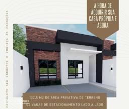 Casa no Florais do Paraná com 01 Suíte + 01 dormitório