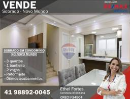 Título do anúncio: Sobrado duplex à venda em condomínio, com 3 quartos, 2 vagas e churrasqueira em Curitiba