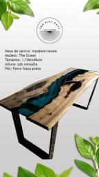Mesa resina madeira