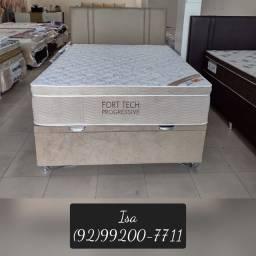 Título do anúncio: Cama cama casal cama de molas ++ painel de cabeceira de brinde