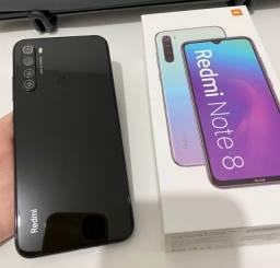 Título do anúncio: Smartphone Xiaomi Redmi Note 8 4GB Ram Tela 6.3 64GB Camera Quad 48+8+2+2MP - Preto