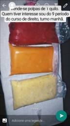 Polpas puras de frutas de um quilo