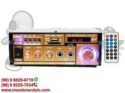 Mini Modulo Amplificador de Som Bluetooth Mp3 Karaokê Lelong LE-704