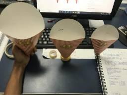 Embalagem Cone Batata Fritas - P/M/G