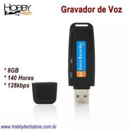 Gravador 8gb 128kbps - Novo