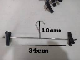 Cabides Cromados Com Presilha - Calça, Saia Ou Bermuda
