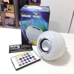 Lampada Musical Led Rgb Caixa De Som Bluetooth Com Controle
