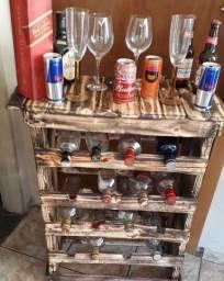Adega de .móveis rústicos para 16 garrafas fabricamos