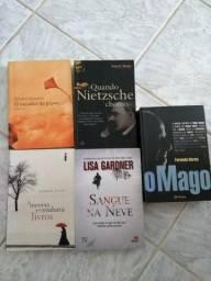 Pacote 5 livros (diversos gêneros)