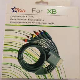 Cabo vídeo componente hdtv av para xbox 360 slim arcade fat feir fr-304a