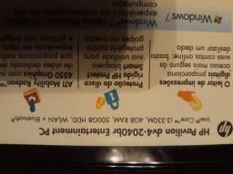 Notbook HP 4gb core i3