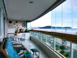 Elegante apartamento alto padrão, semi mobiliado, de frente para a praia, Praia Grande/SP