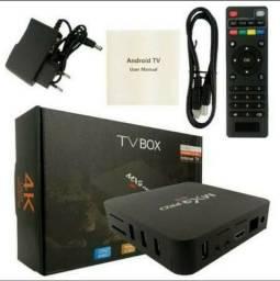 Conversor Tv Box Smart 4k Pro 5g 4gb/ 32gb Wifi Android 10.1