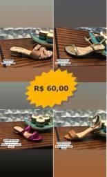 Sapatos e Sandalhas femininas variadas direto da fábrica