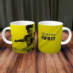 Caneca Fifa Games Porcelana 325ml #1692 Vouiz Rcgpx