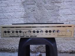Amplificador master mu240 troco em ap de som vintage