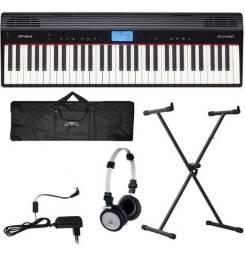 Piano Digital Roland Go Piano Go61p Bluetooh 61 Teclas + Kit - Produto Novo - Loja Física